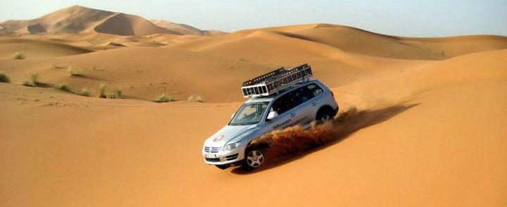 Circuit en 4x4 dans les dunes